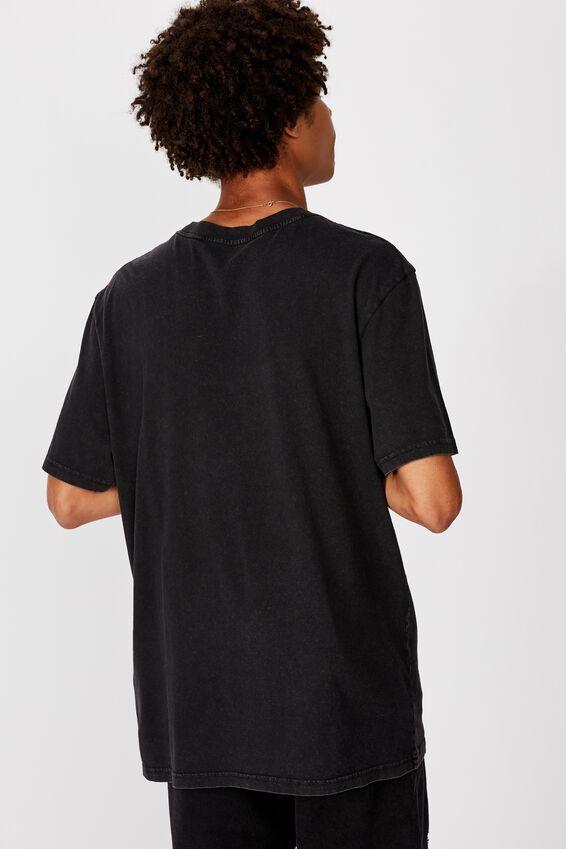 Regular Graphic T Shirt, WASHED BLACK/MEAN MACHINE