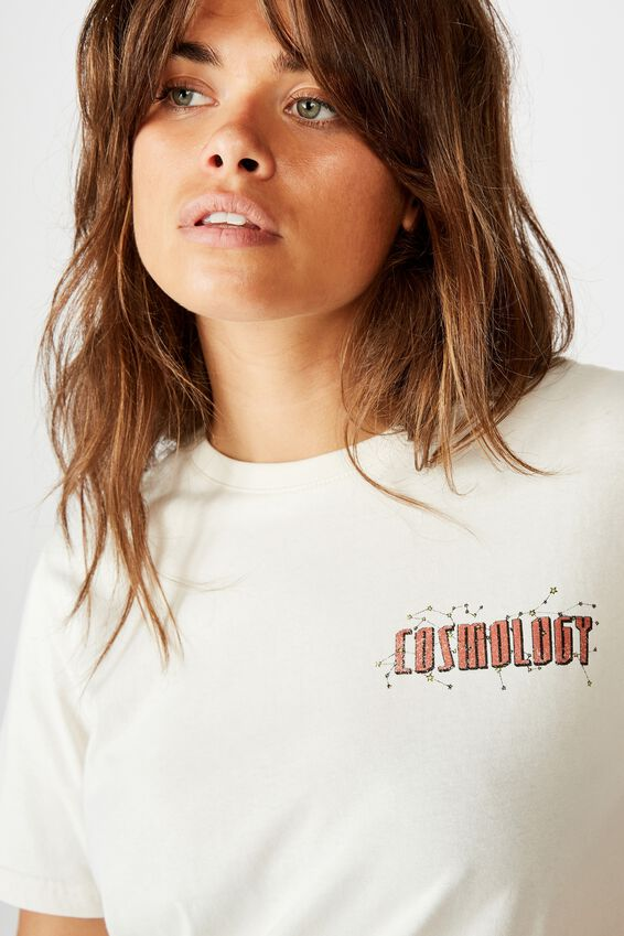 Relaxed Graphic T Shirt, WASHED IVORY/COSMOLOGY