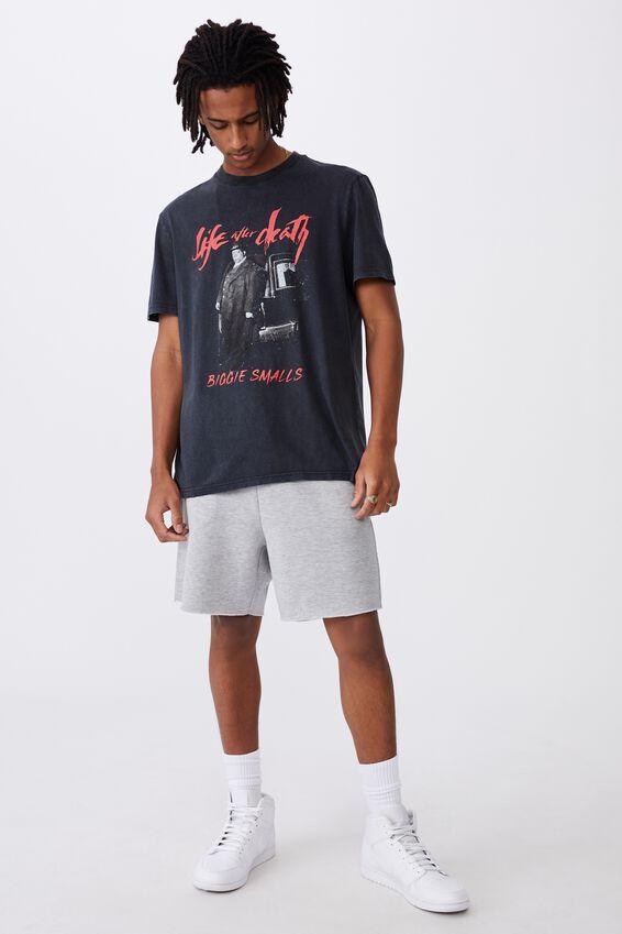Regular License T Shirt, LCN MT WASHED BLACK/BIGGIE LIFE AFTER DEATH
