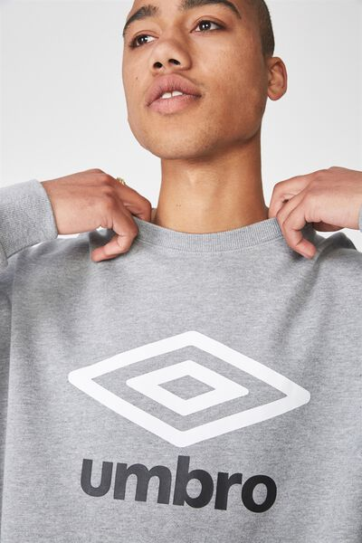 Umbro Lcn Crew Fleece, GREY MARLE