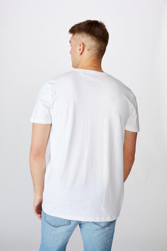 Slim Graphic T Shirt, WHITE/BULLSEYE