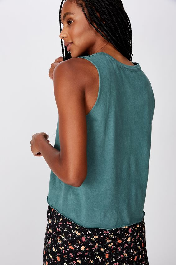 Graphic Tank, WASHED SEA GREEN/RUTHLESS