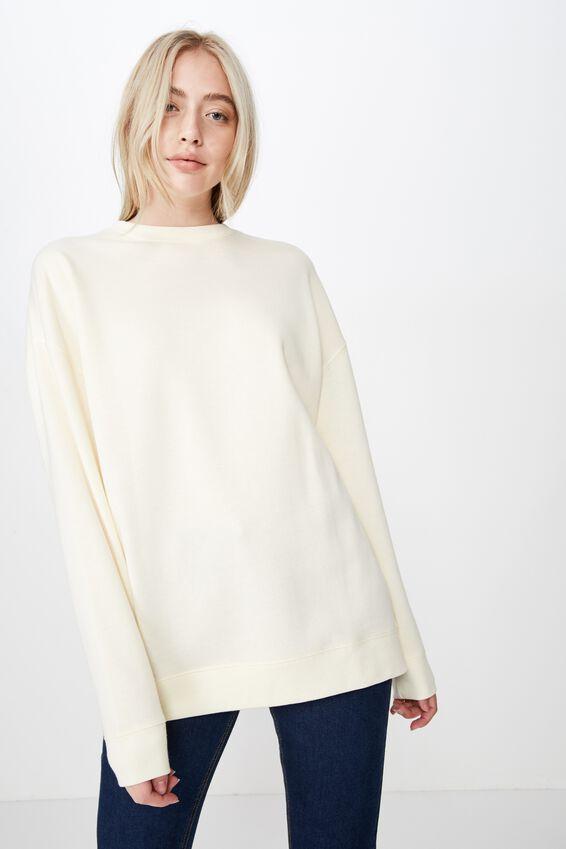 Oversized Crew Neck Sweater, WINTER WHITE