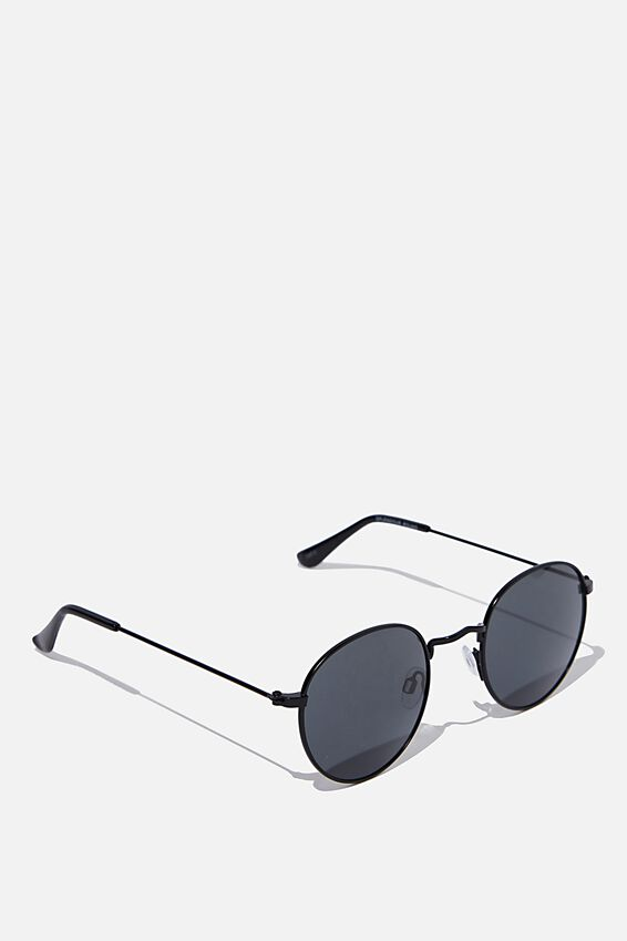 Splendour Round Sunglasses, M BLACK_SMK