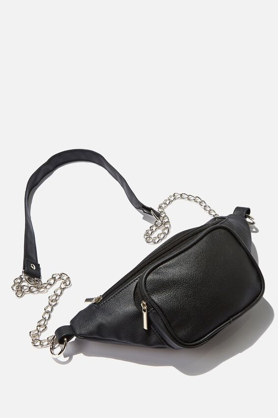 Cross Body Pu Bag, BLACK