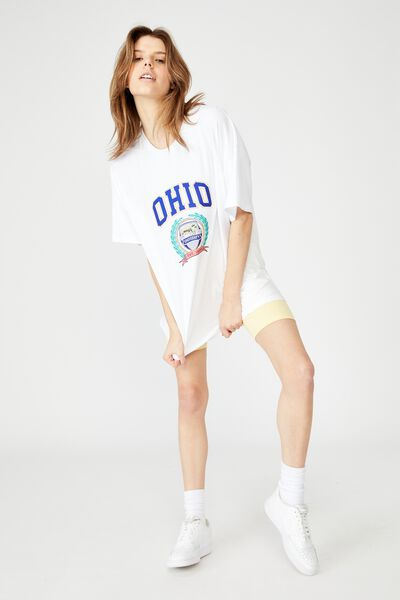 Super Relaxed Graphic Tee, WHITE/OHIO UNIVERITY