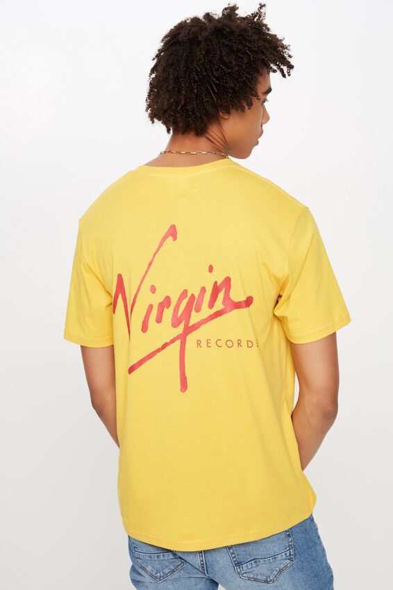 License T Shirt, GOLDEN ROD/VIRGIN RECORDS
