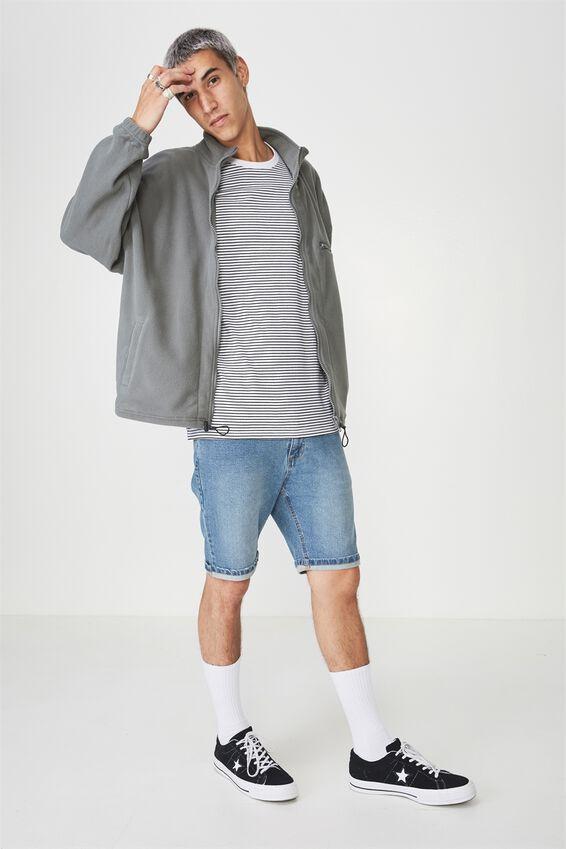 Polar Fleece Zip Through Jacket, SAGE