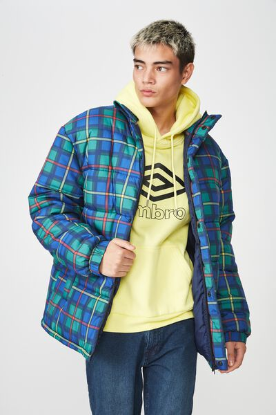 Puffer Jacket, ENGLISH CHECK
