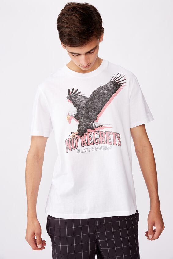 Regular Graphic T Shirt, WHITE/EAGLE PREY