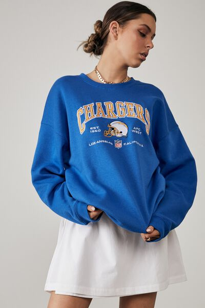 Lcn Nfl Oversized Graphic Crew, LCN NFL VICTORIA BLUE/CHARGERS