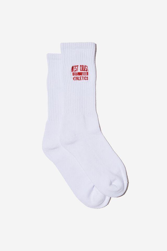 Retro Ribbed Socks, WEST COAST WHITE