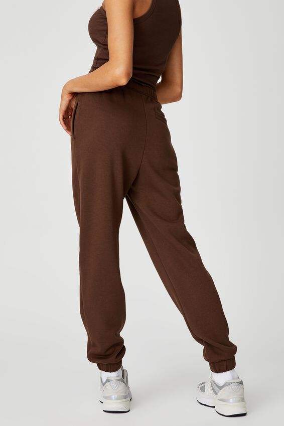 Super High Rise Trackpant, CHOCOLATE