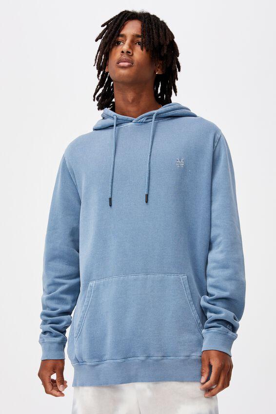 Oversized Icon Hoodie, WASHED CHALK BLUE