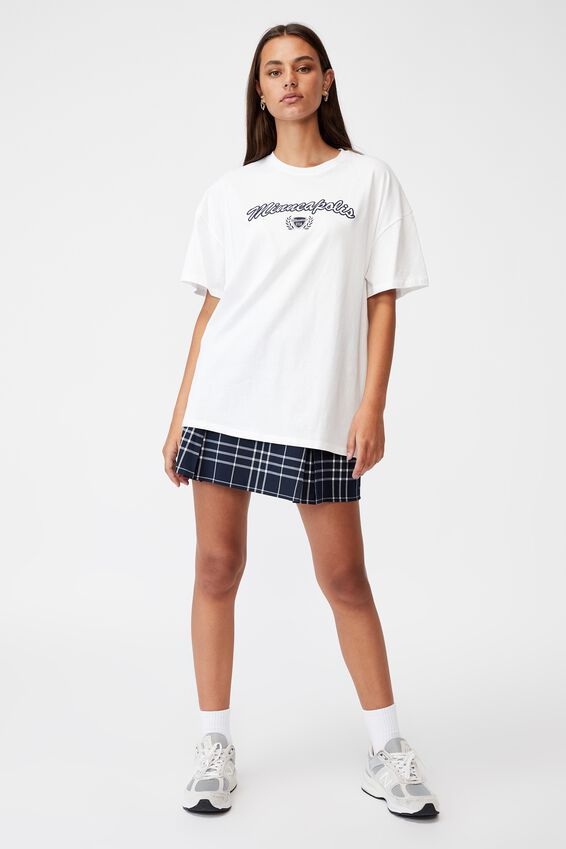 Super Relaxed Graphic Tee, WHITE/MINNEAPOLIS