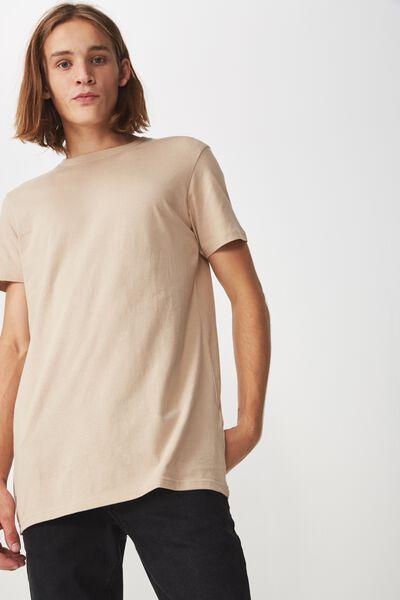 Longline T Shirt, ALMOND