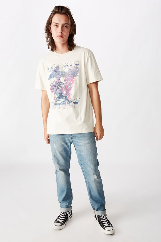 Regular Graphic T Shirt, IVORY/LOCALS