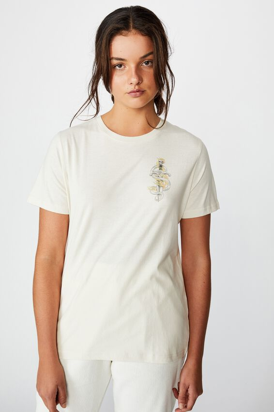 Relaxed Graphic T Shirt, WASHED IVORY/PUMA DRAGON