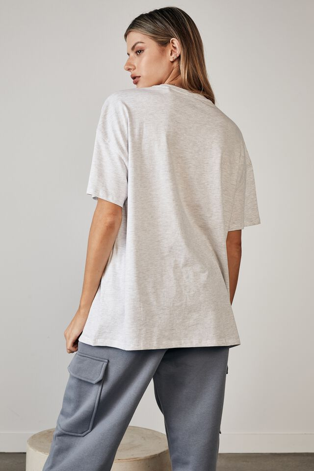 Super Relaxed Graphic Tee, SILVER MARLE/APRES SKI CLUB