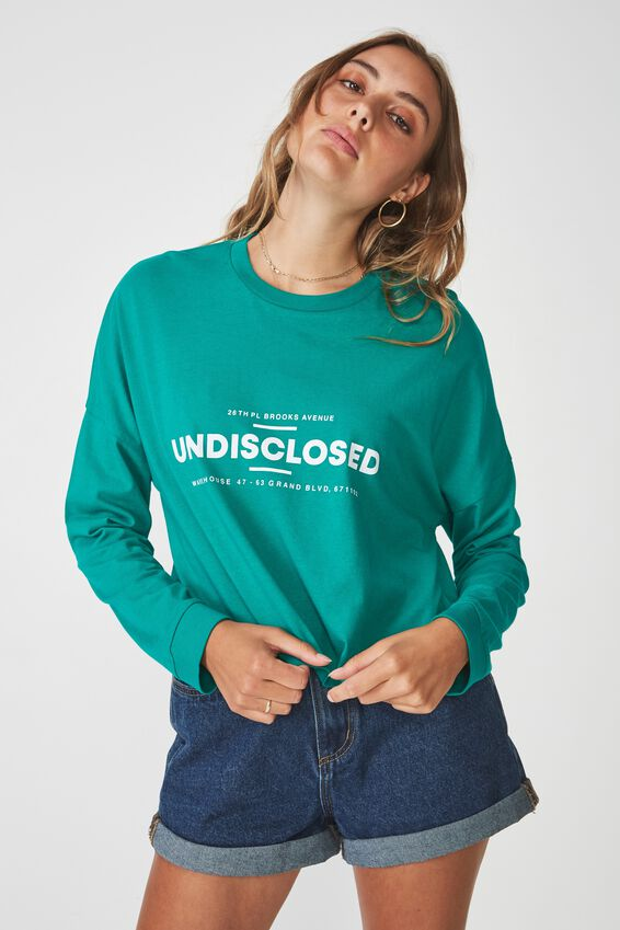 Long Sleeve Graphic T Shirt, UNDSISCLOSED_GREEN