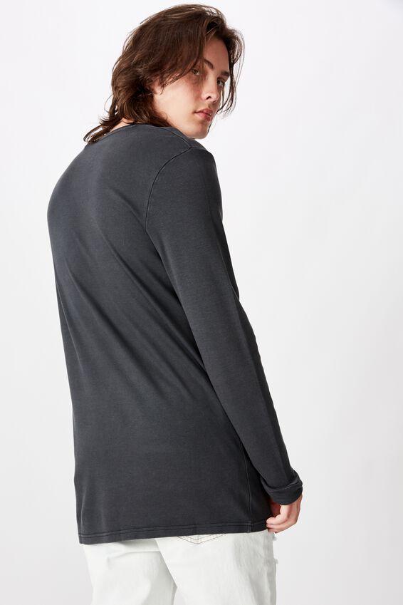 Slim Long Sleeve Graphic T Shirt, WASHED BLACK/SCORPION