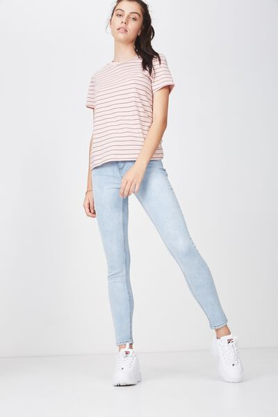 The Mid-Rise Skinny Jean 2, MID WEST BLUE