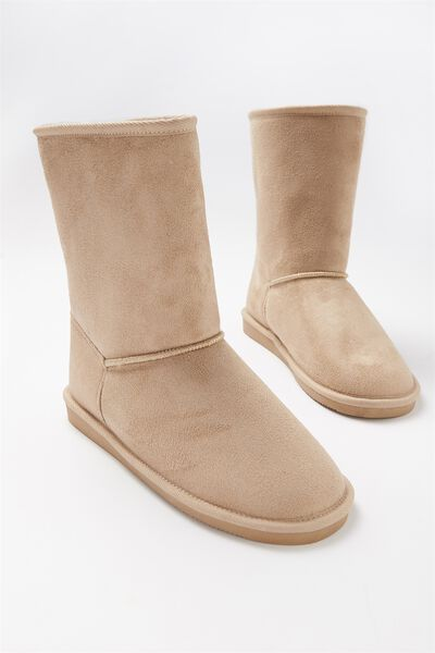 Fluffy Lounge Boot, TAN