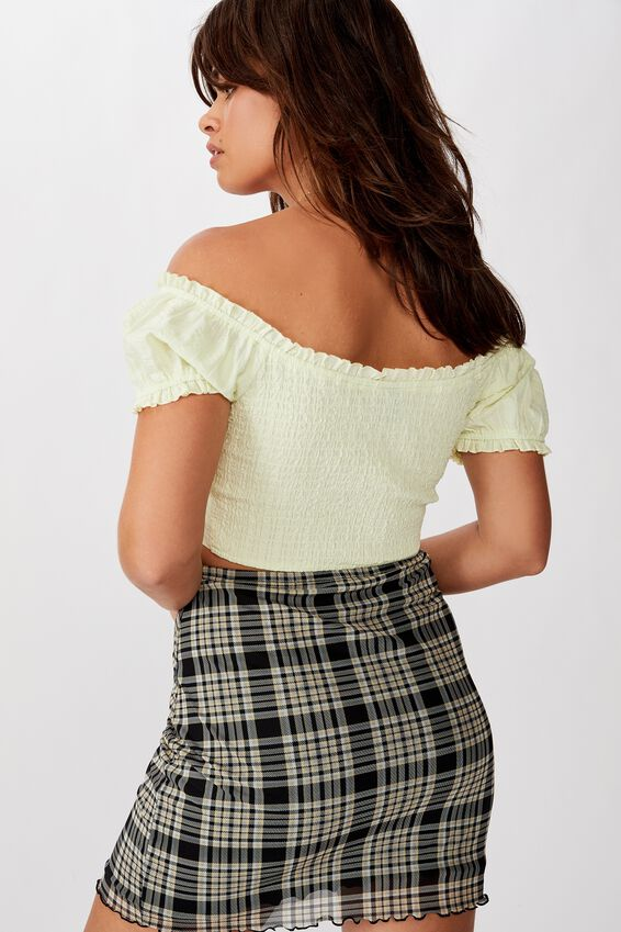 Mesh Skirt, HOPE CHECK BLK NEUTRAL