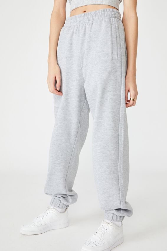 Super Slouchy Track Pant, GREY MARLE