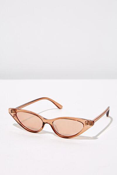 Splendour Cateye Sunglasses, S.CRY CAFÉ_SIL