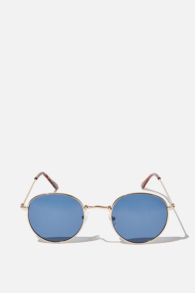 Splendour Round Sunglasses, MIDNIGHT BLUE