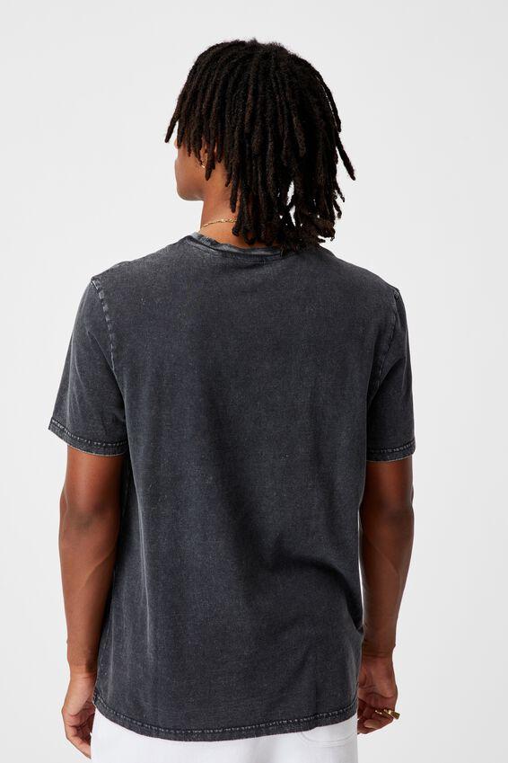 Regular Graphic T Shirt, WASHED BLACK/GREENWICH