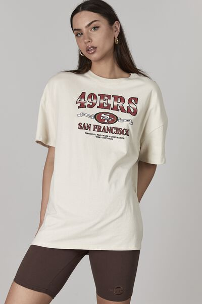 Lcn Nfl Original Relaxed Graphic Tee, LCN NFL IVORY/49ERS
