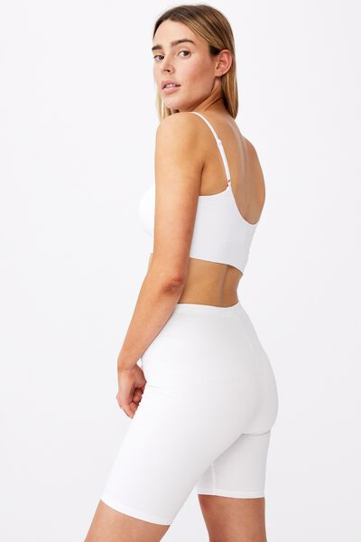 Basic Bike Short, WHITE