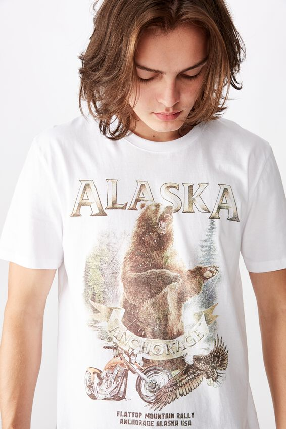 Slim Graphic T Shirt, WHITE/ANCHORAGE