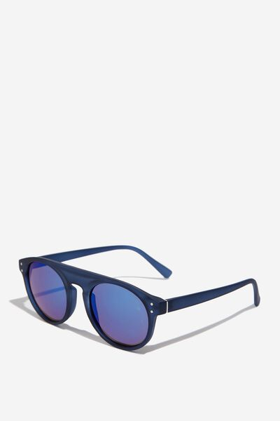 Round Flat Top Sunglasses, R.CRY BLUE_BLUE