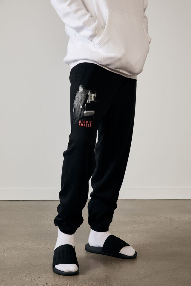 Relaxed Music Merch Trackpant, LCN MT BLACK/BIGGIE LIFE AFTER DEATH