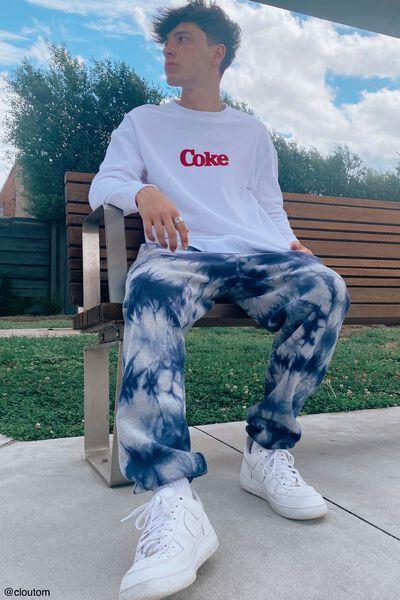 Oversized Pop Culture Crew, LCN COK WHITE/COCA COLA