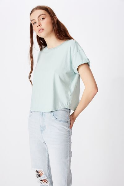 Curved Hem Short Sleeve Tee, ETHER