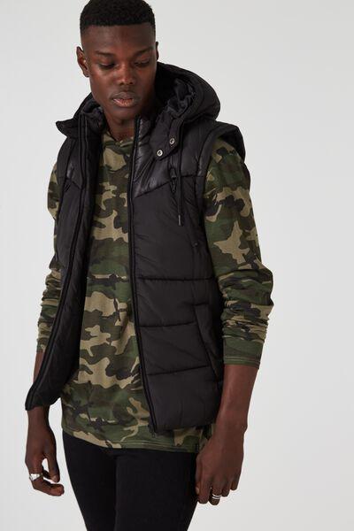 Summitt Puffer Vest, BLACK
