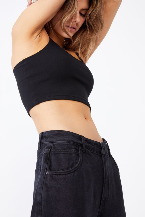 Slouchy Jean, THRIFT BLACK