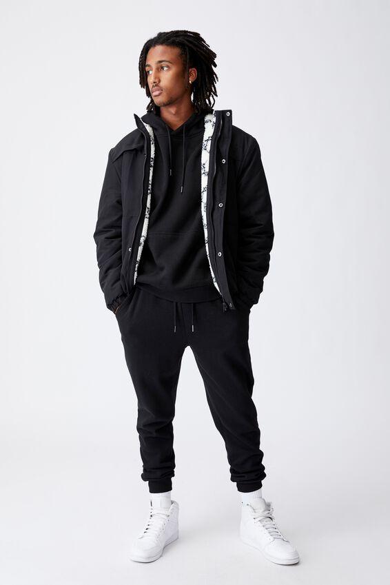 Reversible Sherpa Ski Jacket, BLACK/TILE