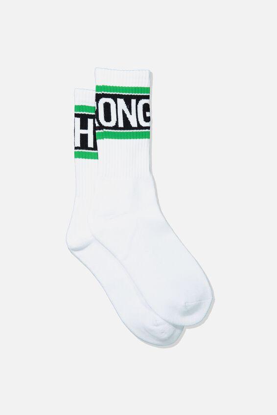 Retro Ribbed Socks, RIGHT WRONG_WHITE