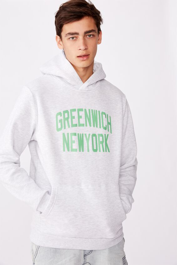 Graphic Hoodie, SILVER MARLE/GREENWICH NY
