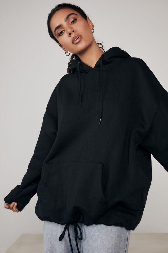 Super Oversized Hoodie, BLACK
