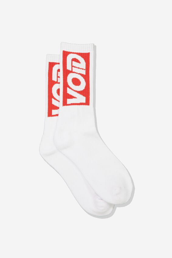 Retro Ribbed Socks, VOID_WHITE