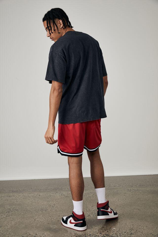Oversized Halloween T Shirt, LCN WB WASHED BLACK/PENNYWISE HOMAGE