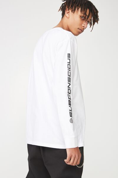 Ls Pocket T Shirt, WHITE/SUBCONSCIOUS