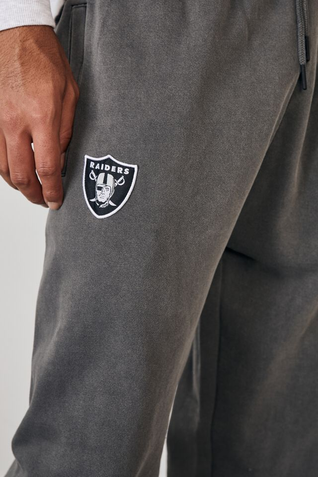 Relaxed Nfl Trackpant, LCN NFL WASHED BLACK/RAIDERS CREST