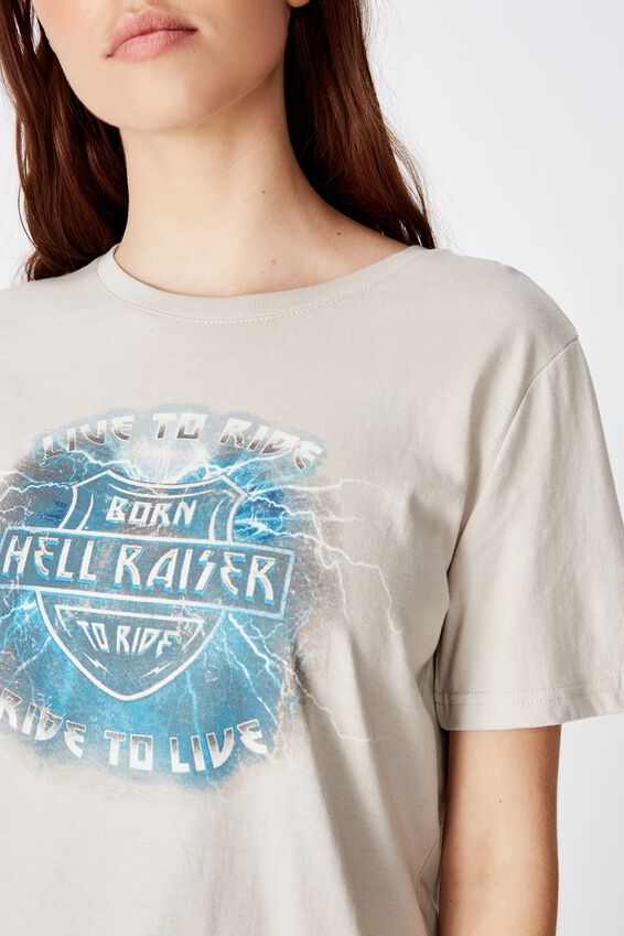 Relaxed Graphic T Shirt, GRAY VIOLET/HELLRAISER